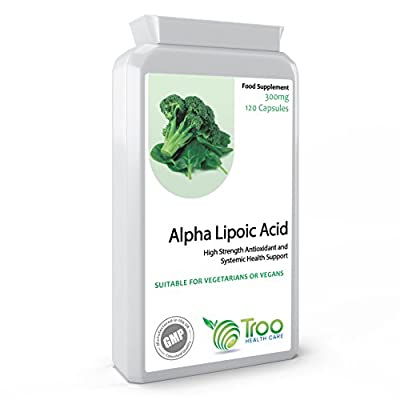 Alpha Lipoic Acid 300mg 120 Capsules - Antioxidant and Systemic Health Support - UK Manufactured GMP Quality Guarantee