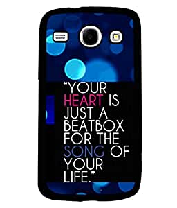 Printvisa 2D Printed Quotes Designer back case cover for Samsung Galaxy Core I8260- D4567
