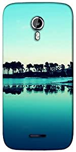 Snoogg visit goa evenings Designer Protective Back Case Cover For Micromax A117