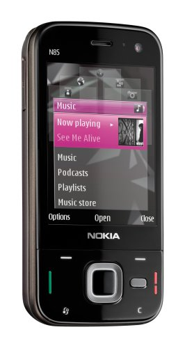 Nokia N85 Unlocked Cell Phone with 5 MP Camera, 3G, GPS, MP3/Video Player, MicroSD Slot - U.S. Version with Warranty