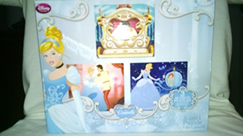 Disney Princess 3-in-1 Puzzle Cindarella - 1