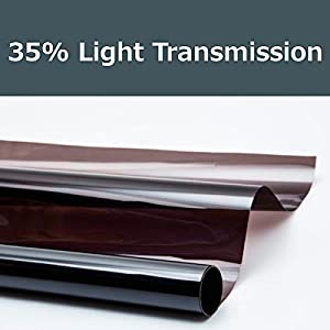 35% shade color 20 Inches by 10 Feet Window Tint Film Roll, for privacy and heat reduction by PROTINT WINDOWS