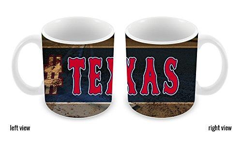 BleuReign(TM) Hashtag Texas #Texas Baseball Team 11oz Ceramic Coffee Mug