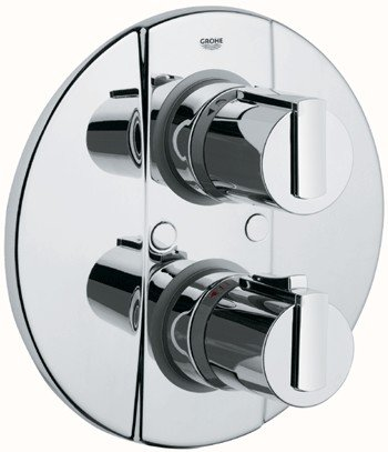 dhwegfy42 grohe grohtherm 2000 thermostat 2 way diverter 19355. Black Bedroom Furniture Sets. Home Design Ideas