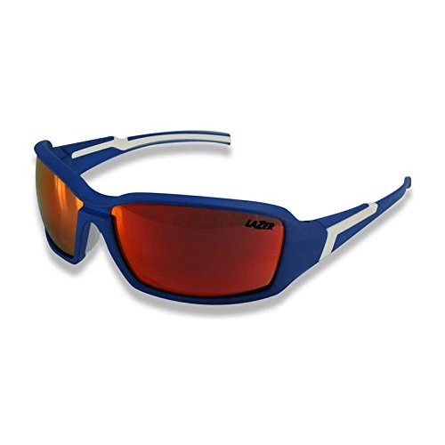 Lazer X1 Matte Blue Sunglasses Orange Mirror Lens