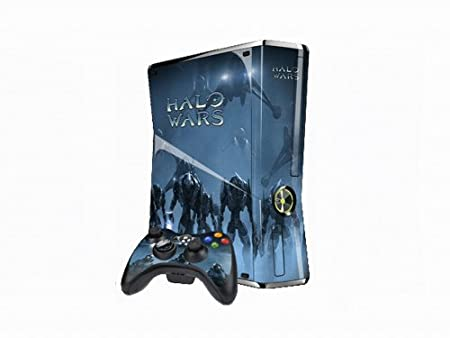 Vantech Xbox 360 Slim Decal +2Control Skins Case Halo Wars X055 - Black
