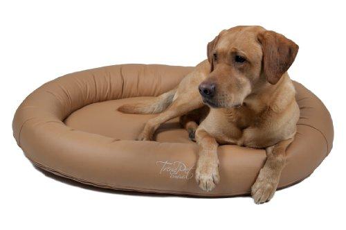 Artikelbild: TrendPet 'Comfado' 110x80cm Nature, Luxus Hundebett aus Soft-Kunstleder 'Das Hundebett'