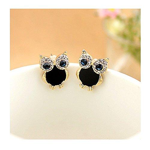 mr-rabbit-sweet-flash-diamond-owl-shapped-black-earrings