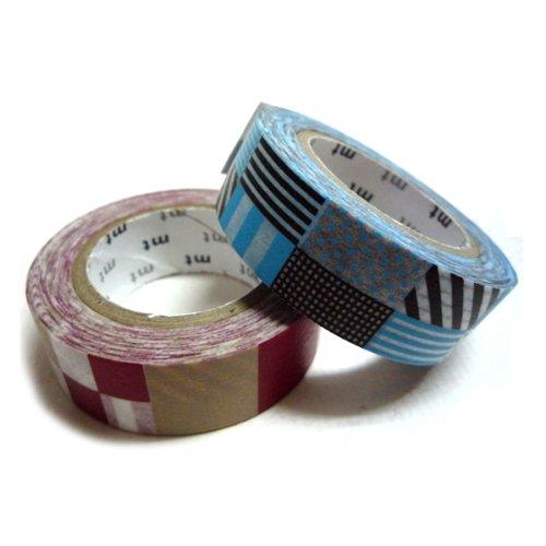 mt マスキングテープ 2P ミックス・レッド×ブルー