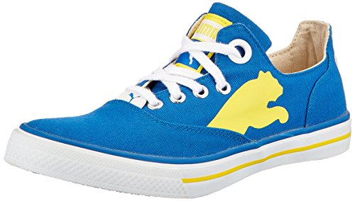 Puma Men's Limnos CAT Ind. Imperial Blue and Dandelion Mesh Boat Shoes - 4 UK/India (37 EU)  available at amazon for Rs.1395