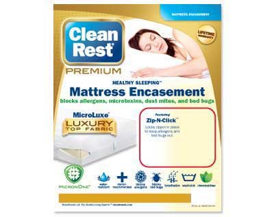 Find Cheap Clean Rest Premium Water-Resistant, Allergy and Bed Bug Blocking Mattress Encasement, Que...