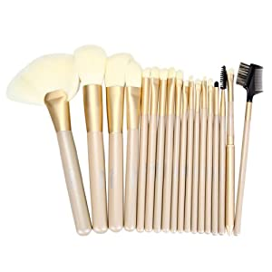 Ovonni 18pcs Luxury Professional Makeup Cosmetic Brush Set with Korean Synthetic Hair