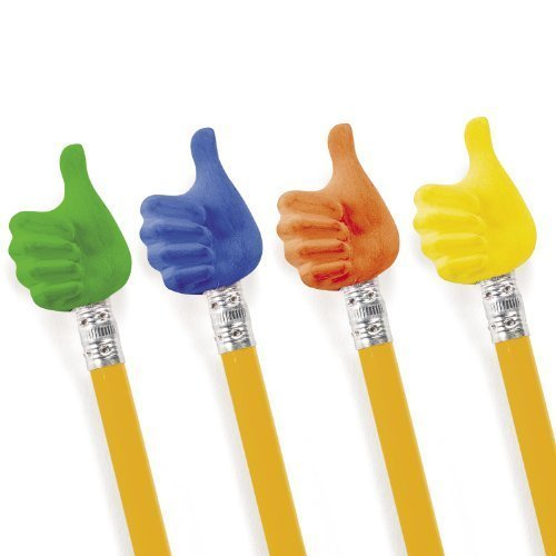 Thumbs Up Pencil Toppers (2 dz)