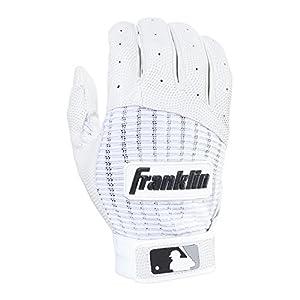Guante para Batear Franklin Sports Youth MLB Pro Classic, Medium para joven, par de guates, color blanco perla
