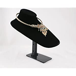 Velvet Bust with Adjustable Stand - Colour Choice - BD1751T