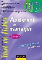 Assistant de manager -2e ed. - le programme en 107 fiches