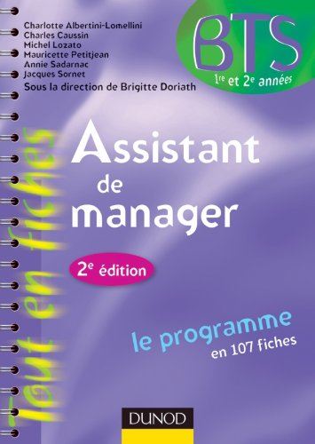 Assistant de manager -2e ed.