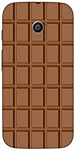 Snoogg Chocolate Case Cover For Motorola E / Moto E