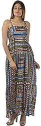 HotShot Women's Cotton Square Neck Dress (RH026, Large)