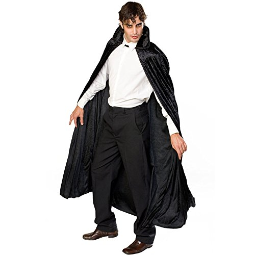 Rubies Unisex Long Velvet Cape Halloween Vampire Gothic Fancy Dress Accessory