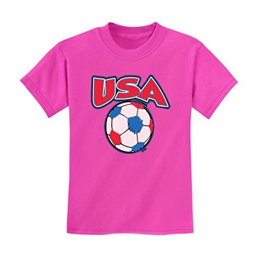 Teestars - Team Usa Soccer Kids T-Shirt 3T Pink