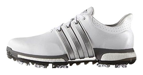 adidas Tour360 Boost, Scarpe da Golf Uomo, Bianco (White/Silver Metallic/Dark Silver Metallic), 40 EU