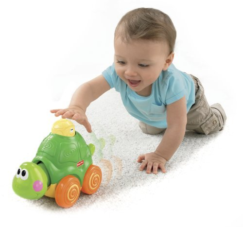 Fisher-Price Go Baby Go! Press And Crawl Turtle Children, Kids, Game front-894931