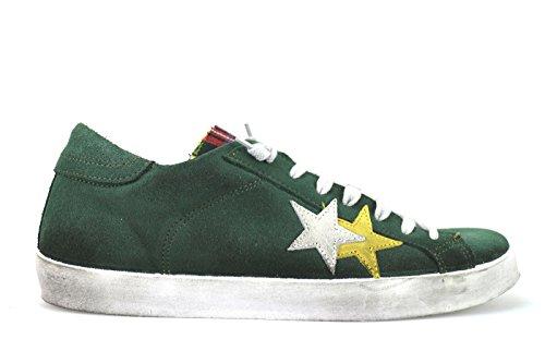 scarpe uomo 2 STAR 40 EU sneakers verde camoscio AJ790