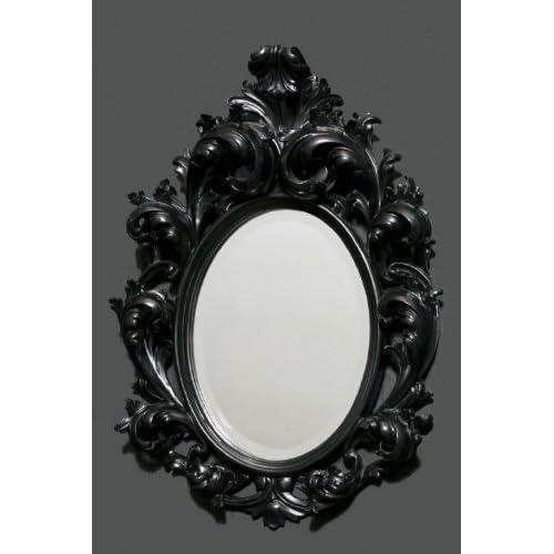 small black rococo mirror m83