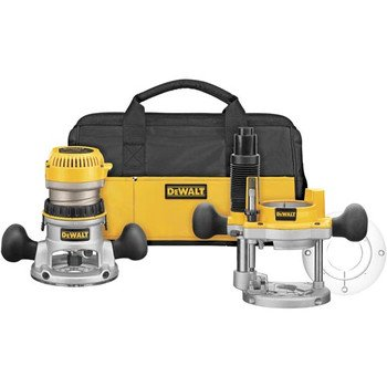 Buy Bargain DEWALT DW618PKB 2-1/4 HP EVS Fixed Base/Plunge Router Combo Kit with Soft Start
