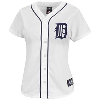 Majestic Ladies Plus Size Detroit Tigers Replica Jersey by SmartTuxedo