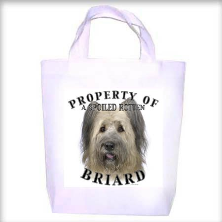 Briard Property Shopping - Dog Toy - Tote Bag