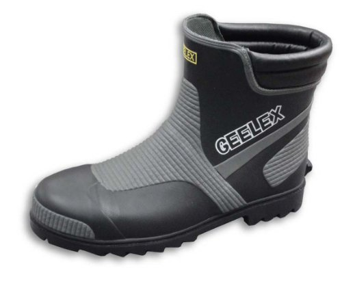 福山ゴム メッシュ繊維入りショート鉄先芯入り長靴 Gレックス#3 ブラック LL
