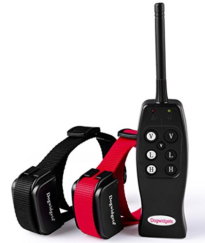 Dogwidgets DW-1 Rechargeable Electronic E Collar Safe Pet Dog Training Collars for 2 dogs with Remote With Individual Vibration for Each Dog Small, Medium and Large Dog Shock Collars For Two Dogs (Dog Training Collars For 2 Dogs compare prices)