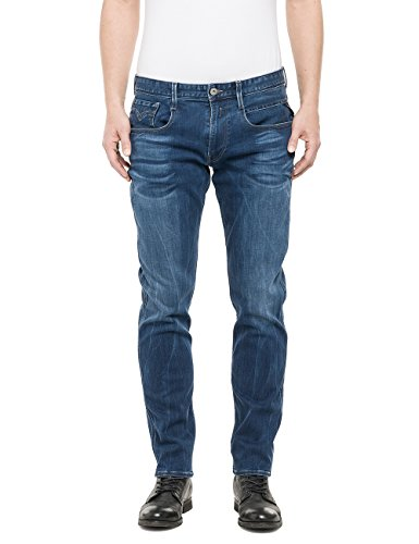 Replay - Anbass, Jeans da uomo, blu (blau  (blue denim 9)), W38/L32 (38)