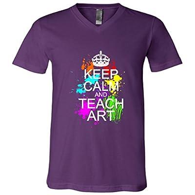 Keep calm and Teach Art V-neck T-Shirt