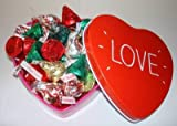 Valentine american Hershey mixed kisses love heart tin
