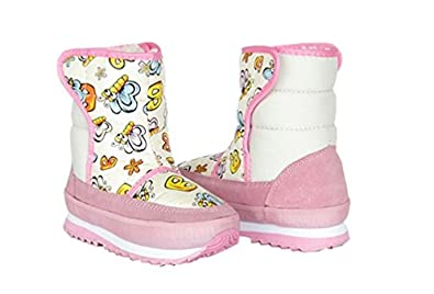 Toddler Winter Boots Butterfly Pink Girls Toddler Girl