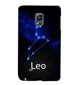 Fuson 3D Printed Sunsign Leo Designer back case cover for Sansung Galaxy Note Edge - D4469