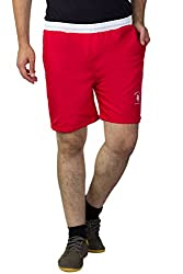 Greenwich United Polo Club Men's Polyester Shorts (GUPC13_Red_X-Large)