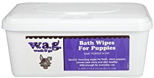 Pet Wipes Bath Wipes in Paraben-Free Tub for Puppies