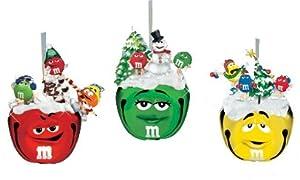 Bradford Exchange M & M Sleigh Bell Ornament Set of 3