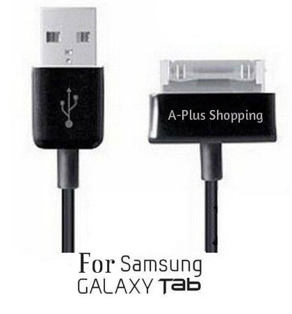 10 Ft. (EXTRA LONG) USB Data Cable Cord Charger + 2 Amp AC Wall Charger for Samsung Galaxy Tab 1, 2, 10.1, Note Tablet GT-N8013 (USA SELLER) (A-Plus Shopping) at Electronic-Readers.com