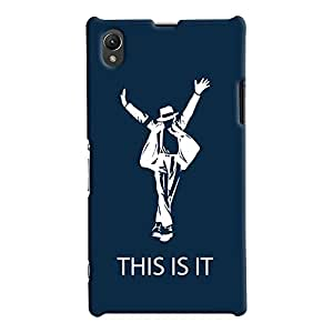 ColourCrust Sony Xperia Z1 Mobile Phone Back Cover With This is it Michael Jackson - Durable Matte Finish Hard Plastic Slim Case