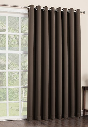 sun zero easton extra wide blackout patio curtain panel 100 x import it all. Black Bedroom Furniture Sets. Home Design Ideas