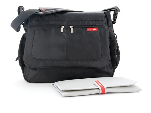 Skip Hop Via Messenger Bag Black