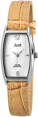 Just Watches 48-S10420-WH-LBR - Orologio da polso donna, pelle, colore: marrone