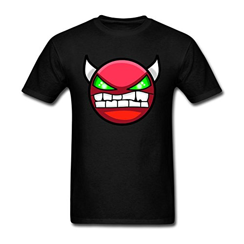 SLJD Men's Demon Geometry Dash Icon Emoji Design T Shirt (7 Days To Die Steam compare prices)