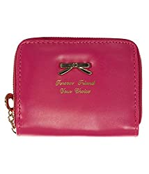 Di Grazia Stylish Bow Design Faux Leather Women's Wallet Card Holder -Pink