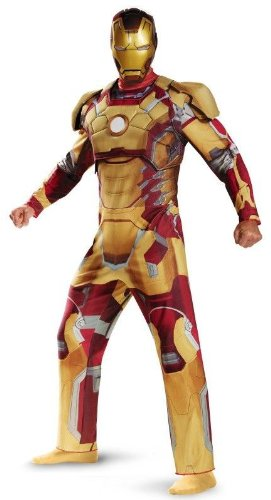 Iron Man 3 Mark 42 Adult Plus size Costume deluxe